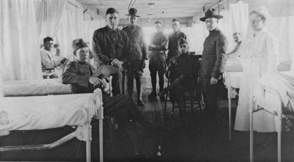 Camp Dodge, Iowa. Captain Samuel Stalberg, MD, second from the right.